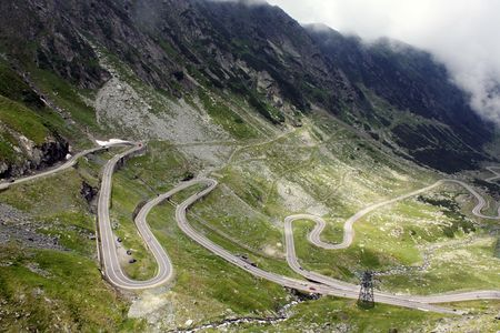 Very difficult road of Transfagarasan photo