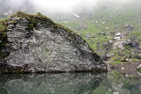 balea: Glacial lake from Balea lake, Romania