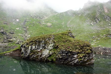 View of Balea lake from Romania photo