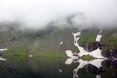 Landscape from Balea Lake in Romania photo