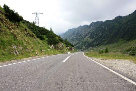 Mountain road to top of Transfagarasan