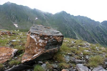 Very big broken rock in Carpathian mountains Stock Photo - 5260198