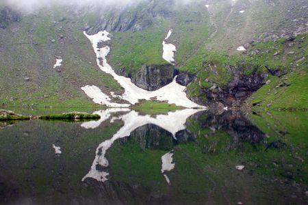 Beautiful view of Balea Lake in Romania photo