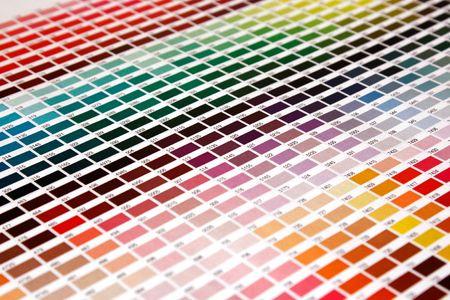 calibration: Color guide of pantone colors