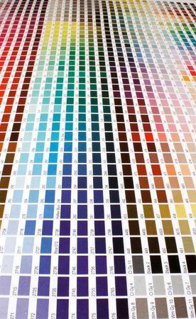 Color guide of pantone colors