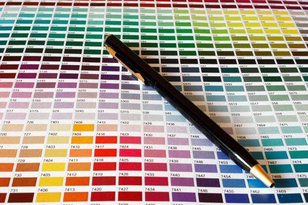 Open échantillon catalogue des couleurs Pantone