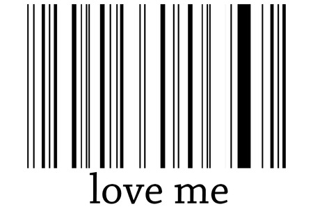 assimilate: Bar code of love on a white background