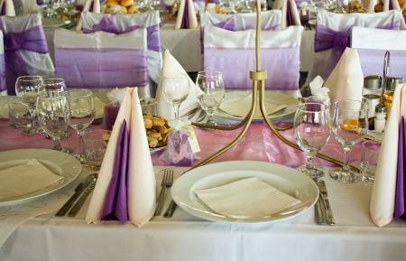Party table and favors set up Stock Photo - 5594684
