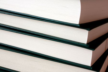 Some covered books in closeup scene Stock Photo