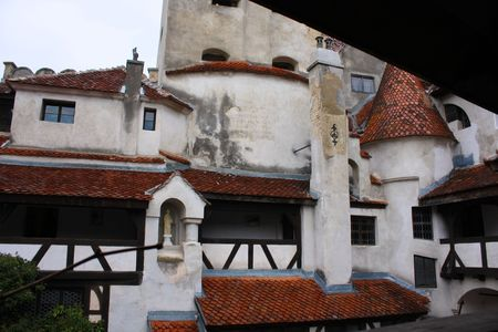 Scene from porch of Bran castle photo