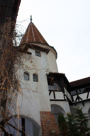 Internal courtyard of Bran castle photo