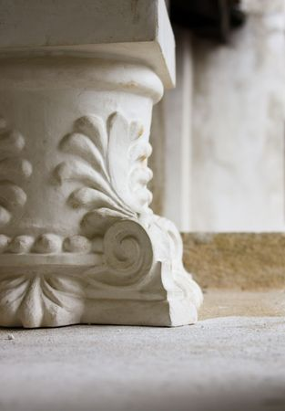 Detailed presentation of a column footing Stock Photo - 5913360