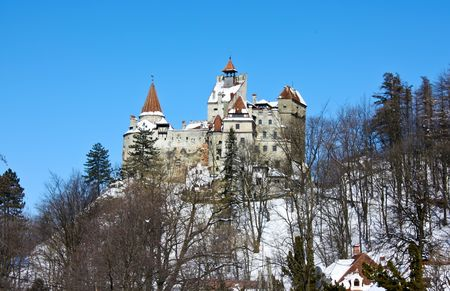 Beautiful scene with Bran castle from Transylvania Stock Photo