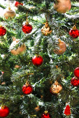 Christmas tree full of balls Stock Photo - 6115856