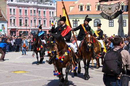 Brasov city, Romania, April 26, 2009 - The Brasov days, Juni parade