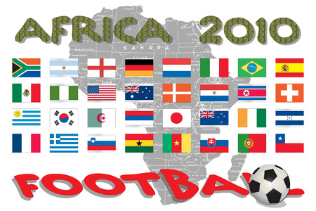 Africa - World Cup competition Stock Vector - 6397989