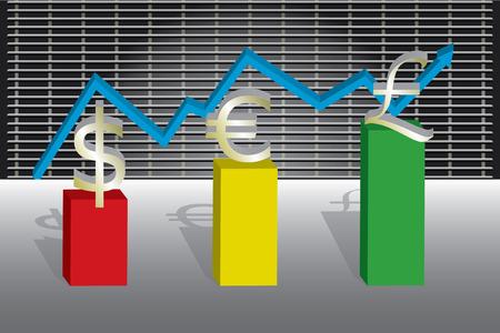 stockmarket chart: A business chart showing the money market