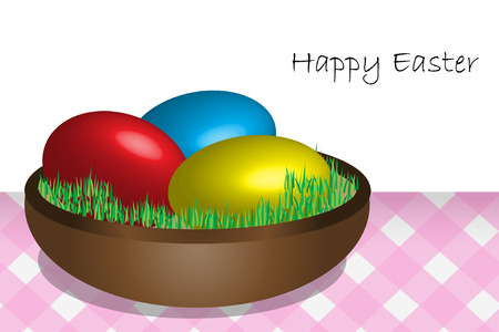 Illustration with Easter eggs on the table Stock Vector - 6464192