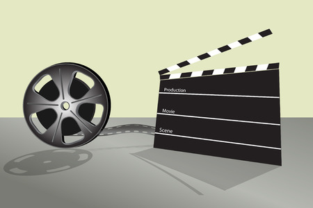 Cinema video film and cinema table production Vector