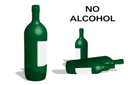 vice: Transparent bottles exhortation not alcohol Illustration