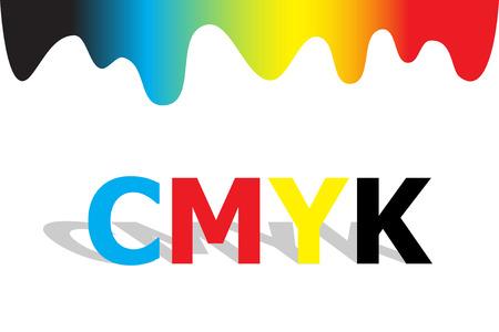 chromatique: Combinaison des couleurs chromatique r�gime avec CMJN Illustration