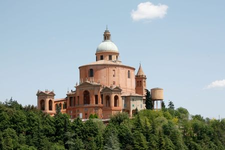 The ancient church of San Luca in Bologna, Italy during the day time