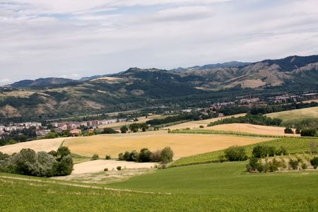 Beautiful Italian countryside in Emilia Romagna region in summer time Stock Photo - 7444083