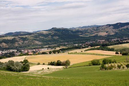 Beautiful Italian countryside in Emilia Romagna region in summer time Stock Photo - 7444083