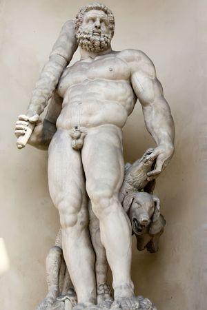 Modena 04.18.2010 - Sculpture of  nude warrior man Editorial