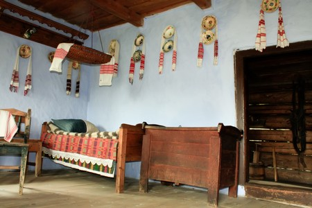 secular: Cluj-Napoca 07.10.2010 Secular interior of rural house from Transylvania