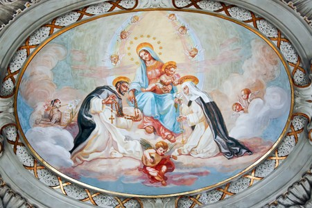 Zola Predosa 09.08.2010 - Preserved fresco from medieval church