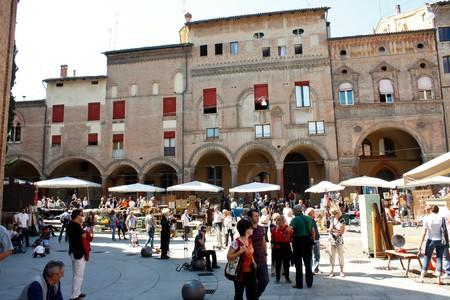Bologna 09.12.2010 - Flea market in Bologna city, Italy Stock Photo - 7996506