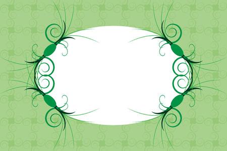 bordering: Tarjeta de felicitaci�n con motivo de verde fresco