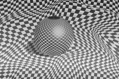 Metallic ball on carbon fiber background Stock Vector - 8141595