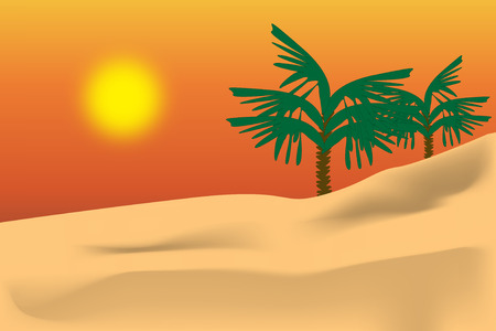 Graphic illustration of Arabian dessert