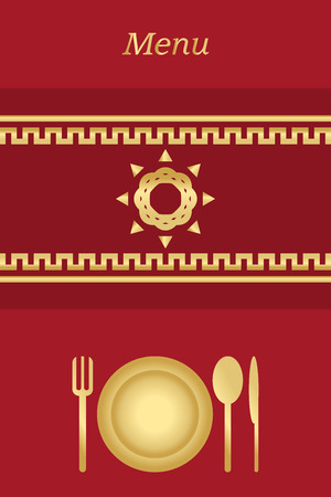 Cover for restaurant menu with vintage elements Vector