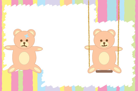 Graphic illustration of greeting card with two teddy bears Stock Vector - 8272881