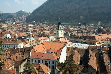 central square: View over the central square from Brasov