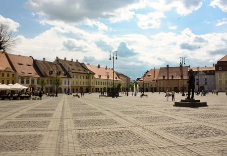 Central square from Sibiu city Editorial