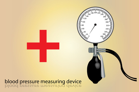 Graphic illustration of blood pressure tool measurement Vector