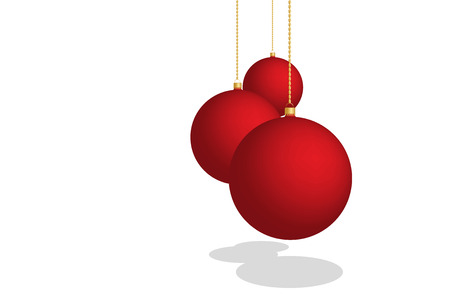 Abstract christmas background illustration with red balls