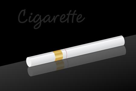 Graphic illustration of a classic  filter cigarette Stock Vector - 8576604