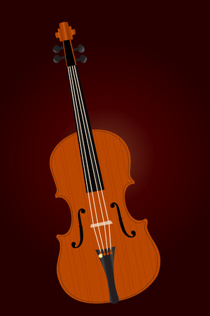 popular: Graphic illustration of old viola over dark background