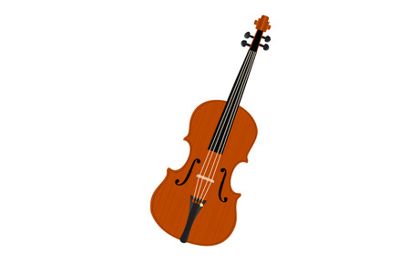 sidelight: Graphic illustration of old viola over white background