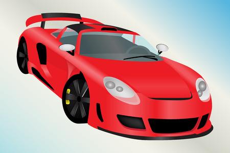 prestige: Graphic illustration of a sport car over gradient background