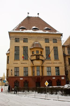 roth: Medias, Romania - February 03, 2011 - Stephan Ludwig Roth high school from Medias