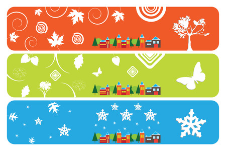 Graphic illustration with three abstract banners Stock Vector - 8824608