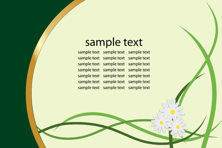 Graphic illustration of floral greeting card Vector