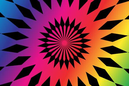 spectral: Spectral shapes over black background