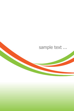 Orange and green template for digital presentations Stock Vector - 8824635
